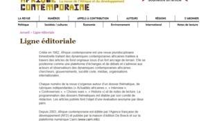 Site de la revue Afrique Contemporaine.