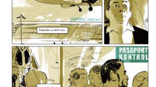 Planche extraite de la bande dessinée «Le Fantôme arménien».