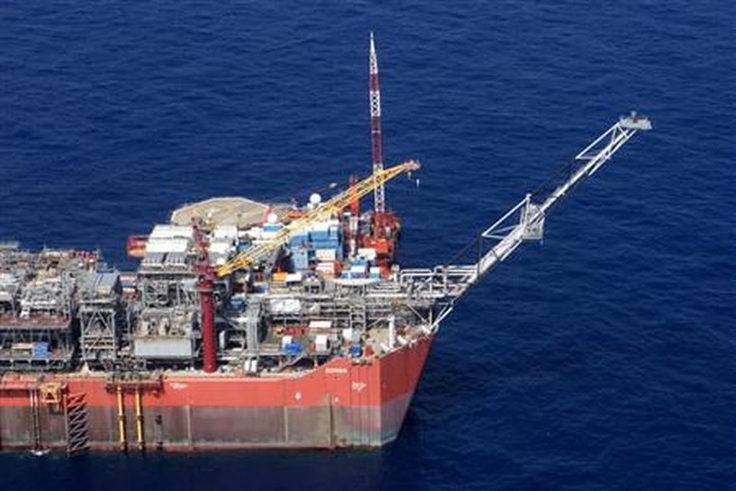 Dandalin kayan aikin kamfanin hakar danyen mai na Royal Dutch Shell dake Bonga a Najeriya.