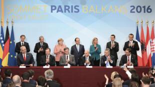 Lors du sommet UE-Balkans occidentaux tenu à Paris, le 4 juillet 2016.