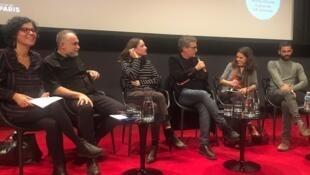 Da esquerda para a direita, Erika Campelo, Karim Aïnouz, Émilie Lesclaux, Kleber Mendonça Filho e Gabriel Mascaro.