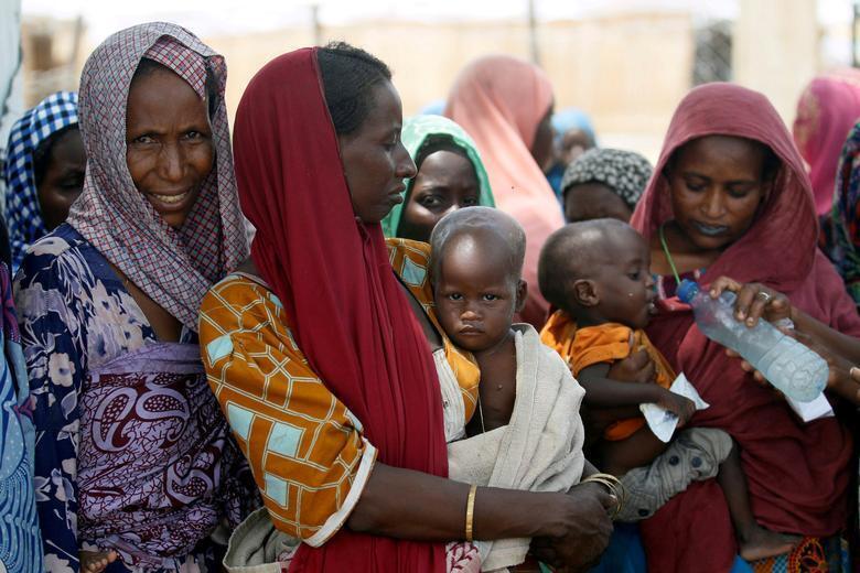 Wasu mata a Maiduguri.