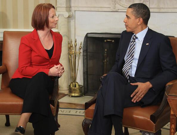 Barack Obama and Julia Gillard USA  Australia (Reuters)