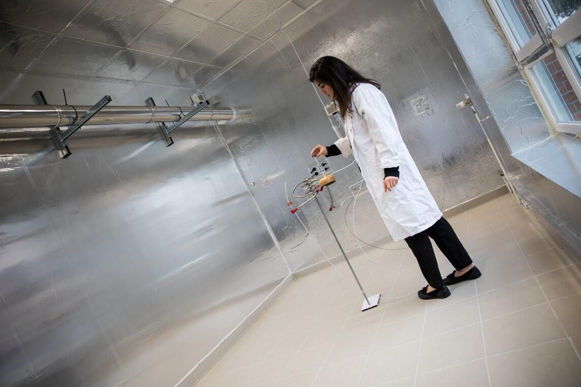 Pièce expérimentale IRINA (Innovative Room for Indoor Air studies), IMT Lille Douai