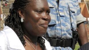 Simone Gbagbo à Abidjan, le 14 septembre 2008.
