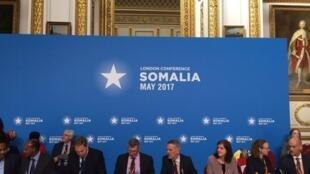 Wajumbe wa Kimataifa waliohudhuria mkutano wa Kimataufa kuhusu Somalia jijini London tarehe 11 mwezi Mei, 2017