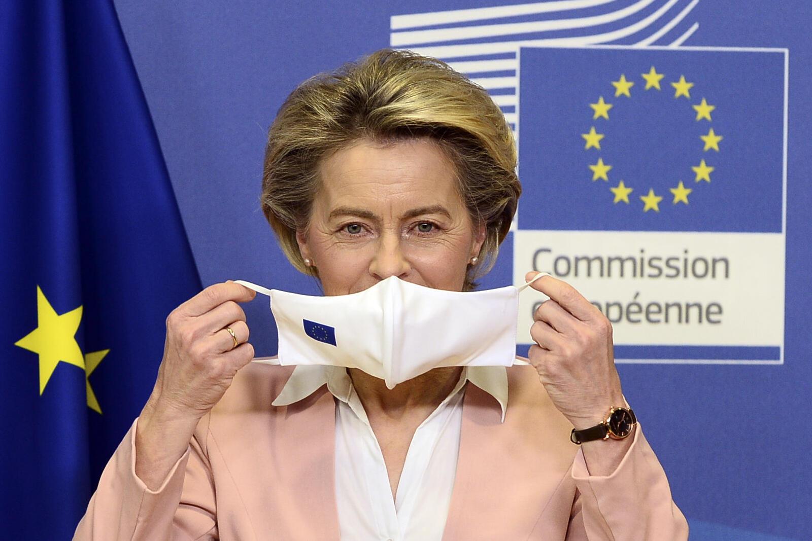 法广存档图片:欧盟委员会主席冯德莱恩夫人  Image d'archive RFI: Ursula von der Leyen, la président de la Commission européenne, le 18 janvier 2021 à Bruxelles, en Belgique.