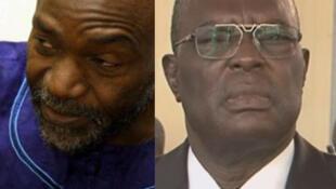 Saleh Kebzabo (G) et Joseph Djimrangar Dadnadji (D), candidats à la présidentielle tchadienne.