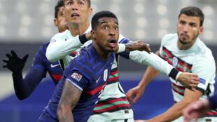 Le Français Presnel Kimpembe - ici devant Cristiano Ronaldo -  a brièvement défendu les couleurs de la RD Congo, avant de jouer pour les Bleus.