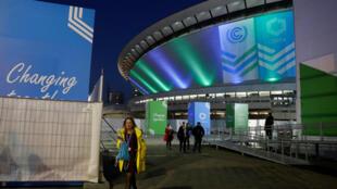 Le lieu où se tient la conférence de la COP24 à Katowice en Pologne, en décembre 2018.