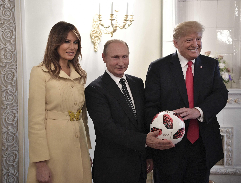 Путин и Трамп в день саммита в Хельсинки