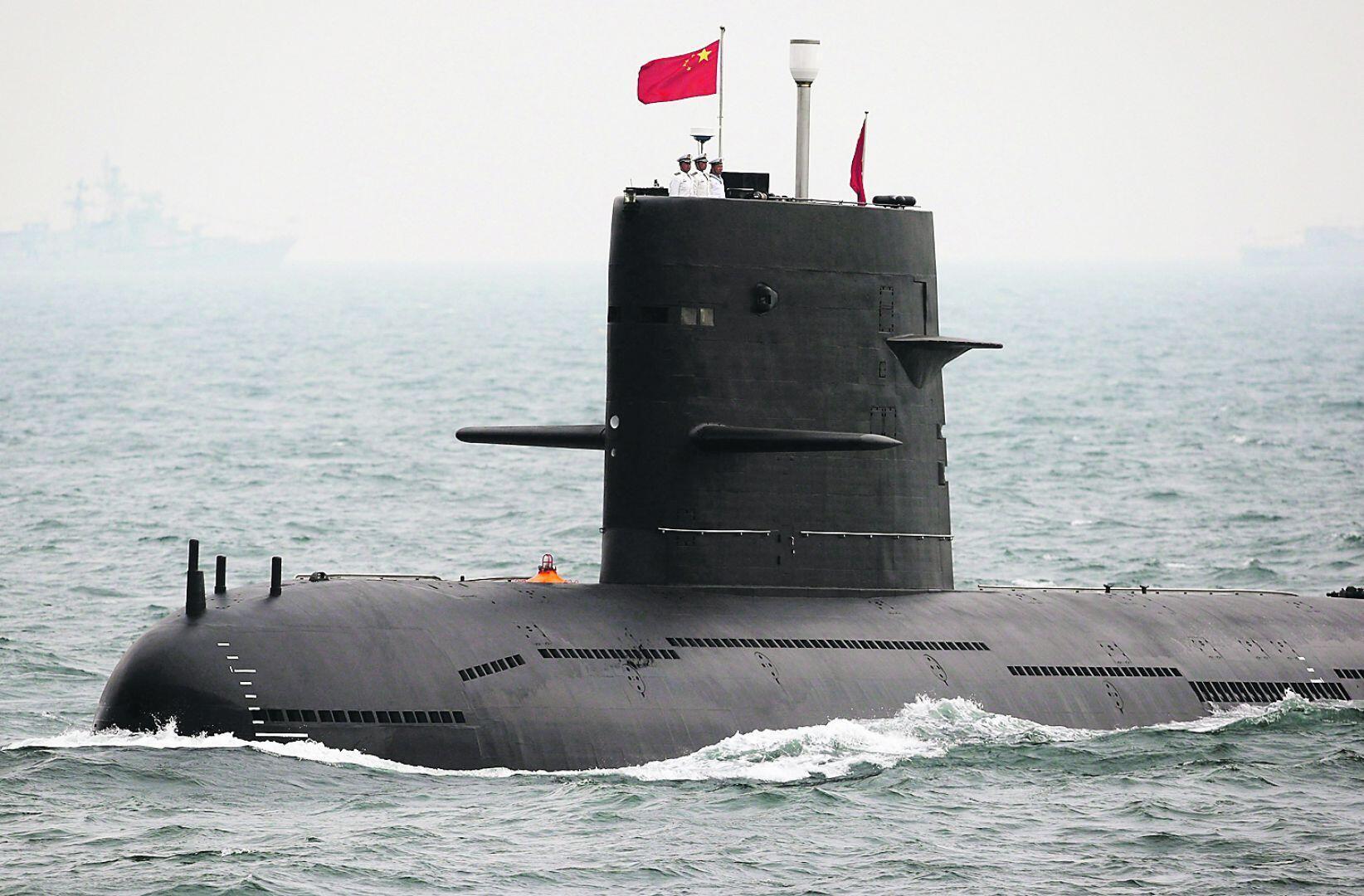 Một tầu ngầm của quân đội Trung Quốc.