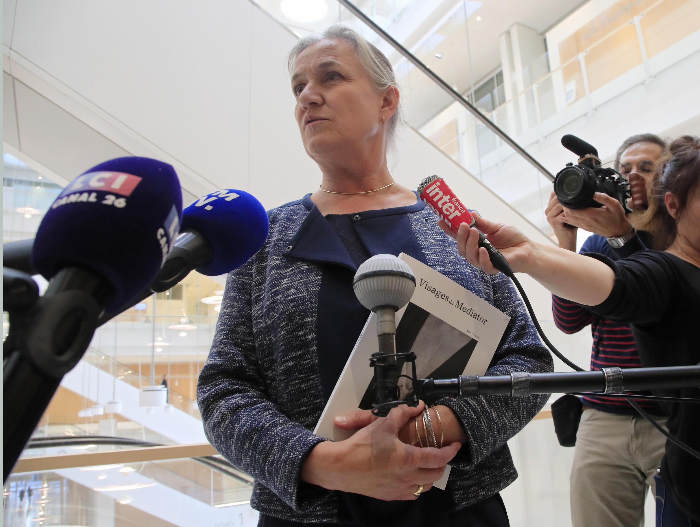 Доктор Ирен Фрашон в Парижском дворце правосудия в день начала процесса. 23.09.2019.