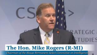 Mike Rogers, Chủ tịch Ủy ban Tình báo Hạ viện Mỹ phát biểu tại cuộc Hội thảo về Biển Đông tại Trung tâm CSIS (Washington) ngày 10/07/2014.