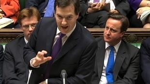 Le ministre britannique de l'Economie, George Osborne, le 29 novembre 2011.