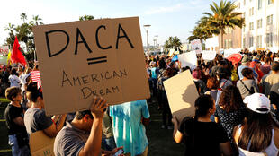 Alliance San Diego and other Pro-DACA supporters hold a protest rally, following U.S. President Donald Trump's DACA announcement, California, 5 September, 2017.