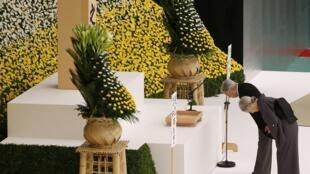 Японский император Акихито на церемонии по случаю 70-летия капитуляции. Токио 15/08/2015.