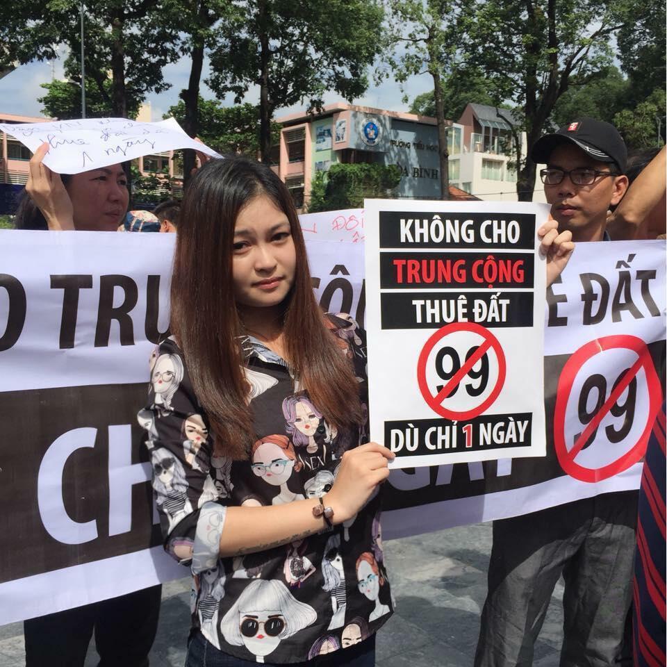 Người dân Saigon biểu tình phản đối việc cho Trung Quốc thuê đất, ngày 10/06/2018.