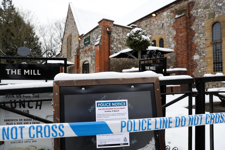 Local onde ocorreu o envenenamento de Serguei Skripal e sua filha,Yulia, em Salisbury, no Reino Unido