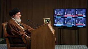 Ảnh minh họa: Giáo chủ Iran Ali Khamenei tại Téhéran (Iran) ngày 22/05/2020.
