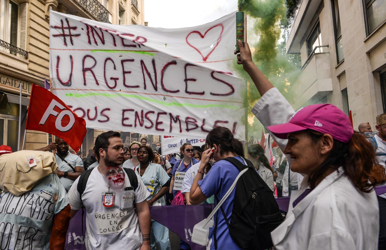 Manifestação dos profissionais dos serviços de urgência. Paris, 6 de Junho de 2019.