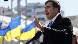 Михаил Саакашвили в Киеве. Архивное фото