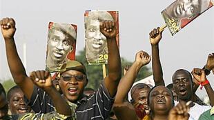 Manifestation en hommage à Thomas Sankara à Ouagadougou, le 14 octobre 2007.