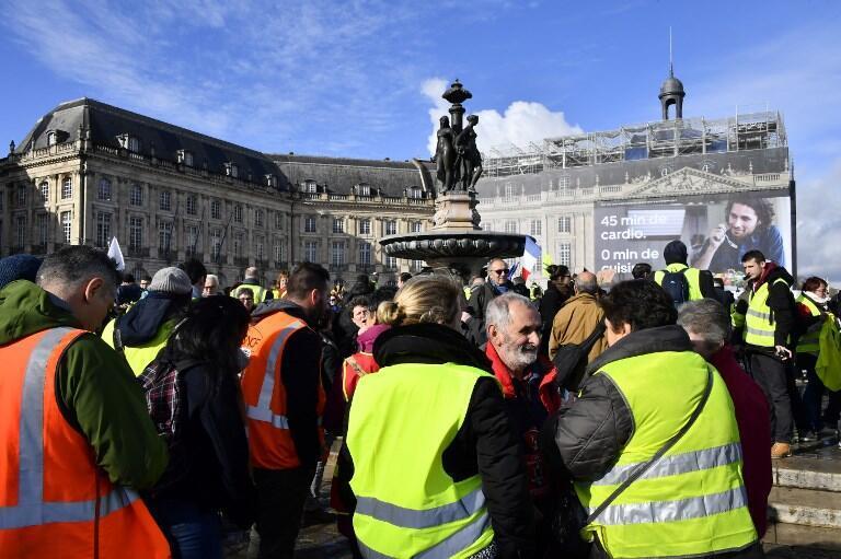 Протестующие в Бордо, 19 января 2019 г.