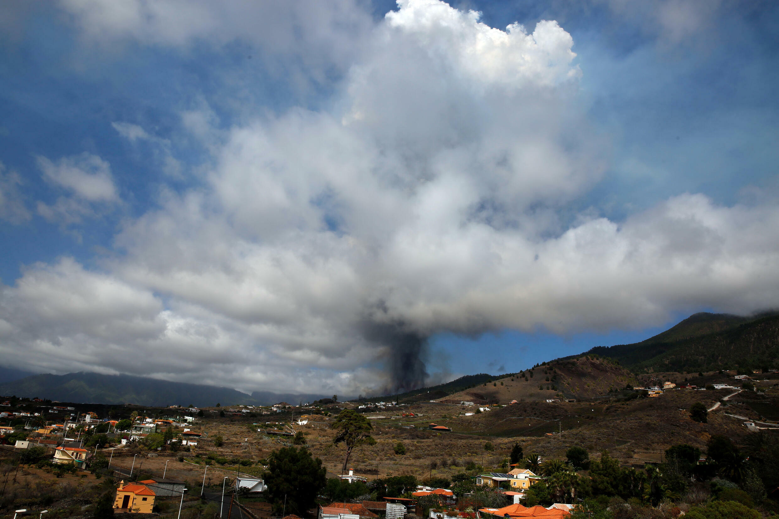 Evacuations started after Mount Cumbre Vieja erupted on the Canary Islands