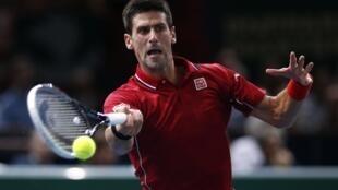 Novak Djokovic en Bercy, este 30 de octubre de 2014.