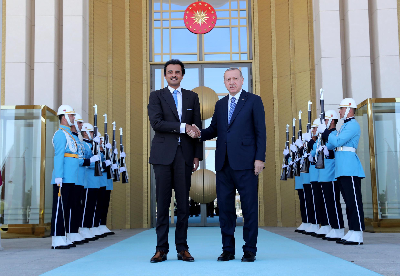 رجب طیب اردوغان در آنکارا با امیر قطر ملاقات کرد