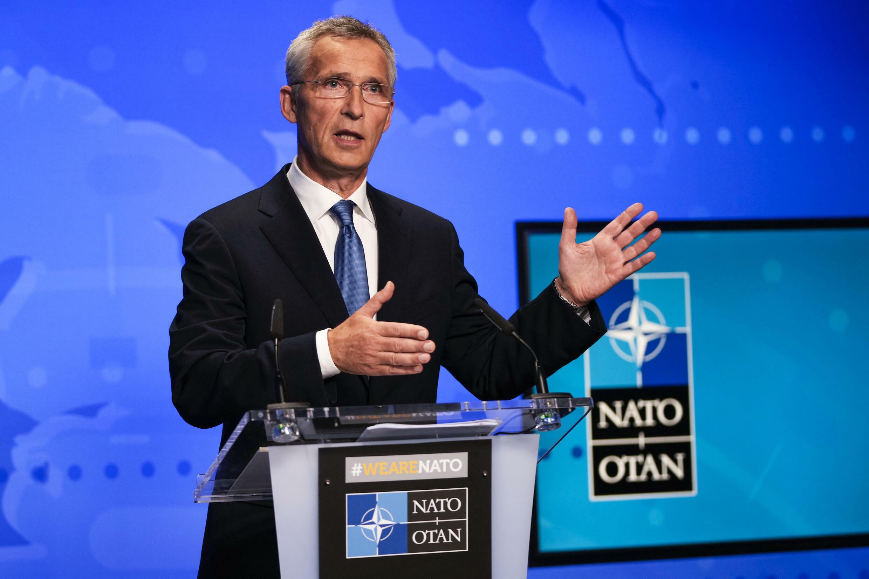El secretario general de la OTAN, Jens Stoltenberg, en Bruselas, Bélgica el 20 de agosto de 2021