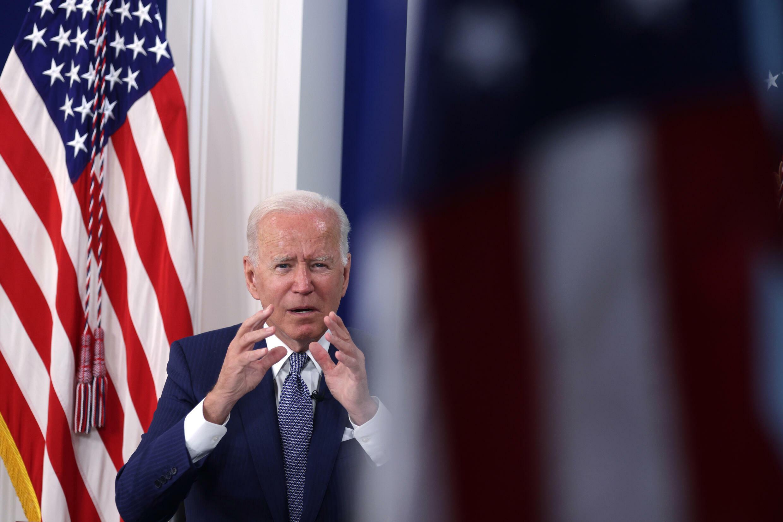 El presidente estadounidense, Joe Biden, durante una cumbre virtual sobre el covid-19 en Washington, el 22 de septiembre de 2021