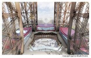 玻璃地面是铁塔一楼装修的重点