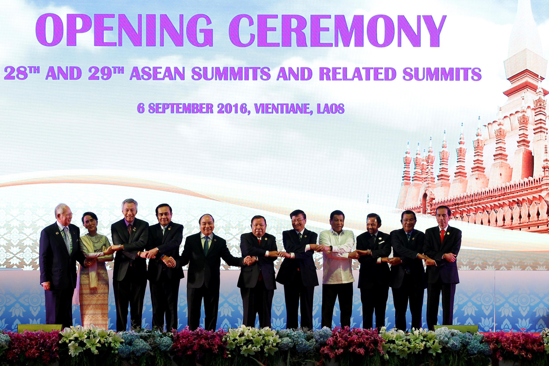 Thượng đỉnh ASEAN tại Vientiane, Lào, ngày 06/09/2016.