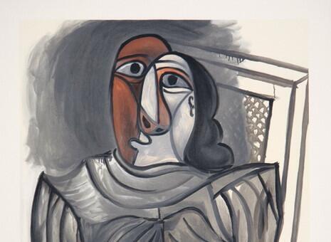 «Сидящая женщина в сером платье», Пабло Пикассо