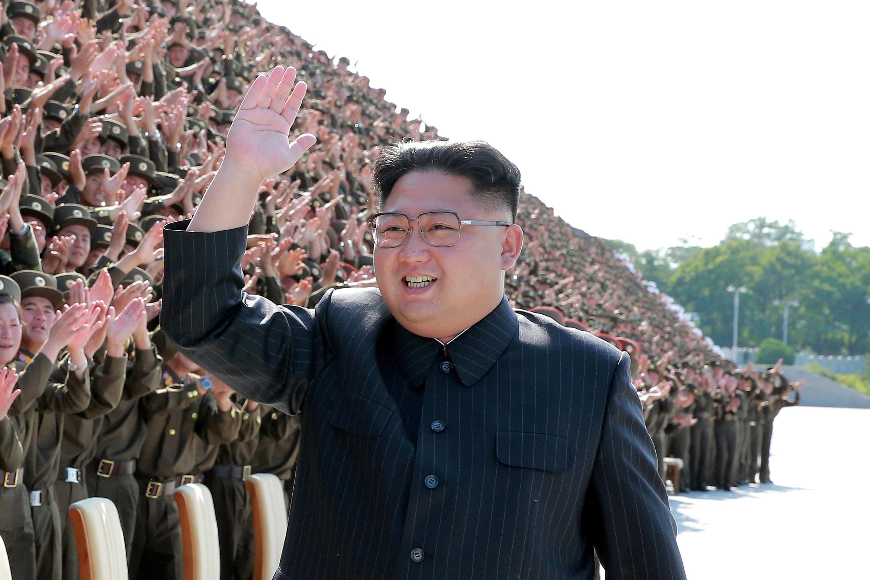 Lãnh đạo Bắc Triều Tiên Kim Jong Un. Ảnh do KCNA công bố ngày 01/09/2017.