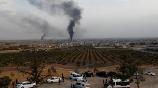 Ciudad fronteriza de Ras al Aín, Siria.