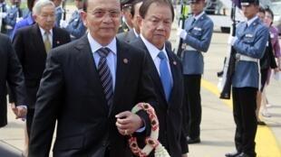 Le président birman Thein Sein à son arrivée à Bangkok le 22 juillet 2012.