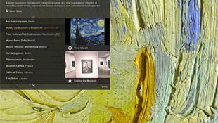"""تصویری از صفحه اینترنتی """"طرح هنری گوگل"""""""