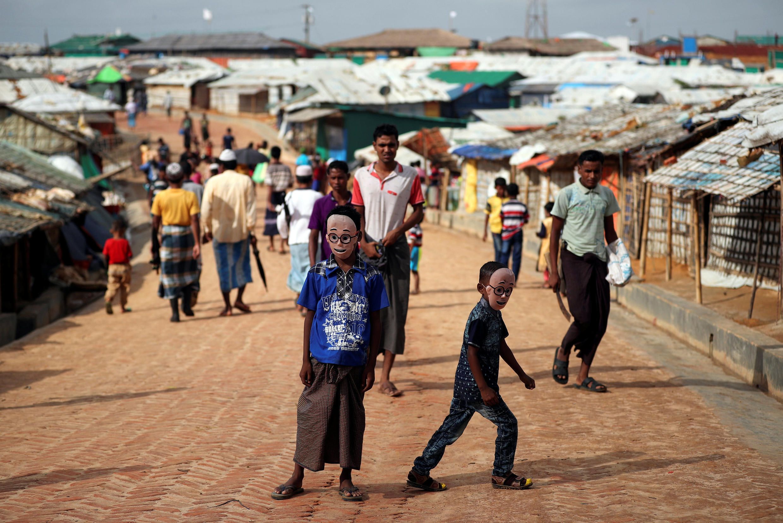 Trại tị nạn người Rohingya Kutupalong ở Bangladesh. Ảnh 22/08/2018.