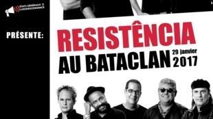Cartaz da Cap Magellan sobre ida dos Resistência ao