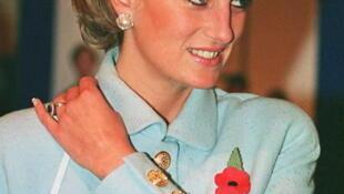 La princesa Diana en Londres en noviembre de 1995