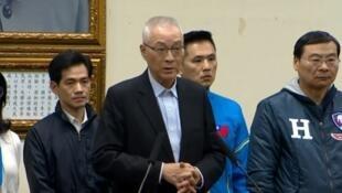 国民党党主席吴敦义面对败选宣布请辞