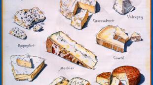 Os queijos franceses