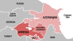 Nagorno Karabakh地圖