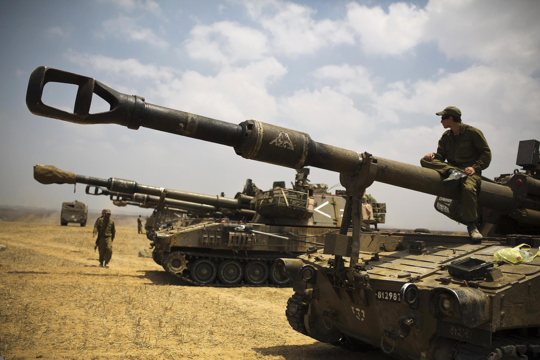 Израильские солдаты недалеко от сектора Газа, 22 июля 2014 г.