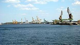 Cảng biển Swinouijscie, Ba Lan.