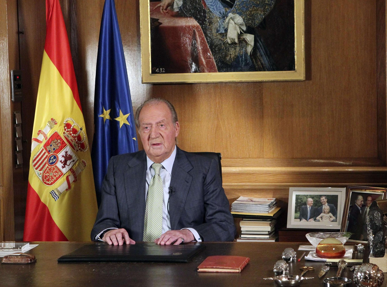 Видеообращение короля Испании Хуана Карлоса. Мадрид 02/06/2014