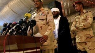 Mohamed Hamdan Dagalo dit Hemeti, chef des janjawid, la force d'action rapide soudanaise, Karthoum, le 18 mai 2019.